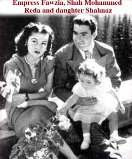 Princess Fawzia, Reza Shah and baby Shahinaz