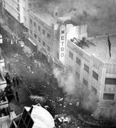 Metro on fire January 1952