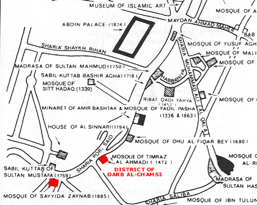 Timraz Ahmadi Mosque map