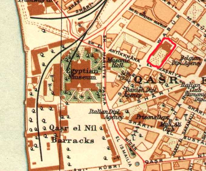 HALIM PALACE MAP circa 1920