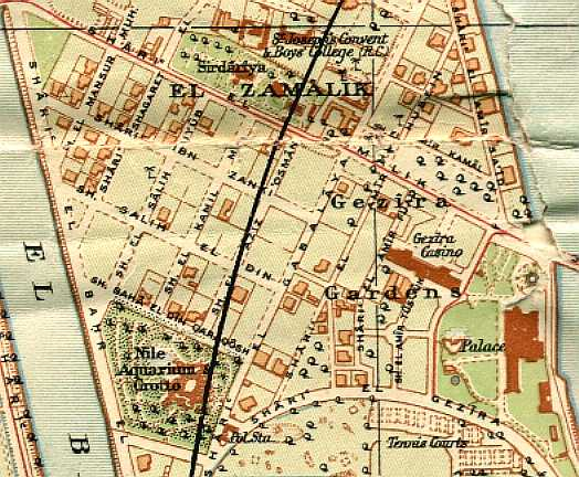 Area map of Zamalek pre-WW1