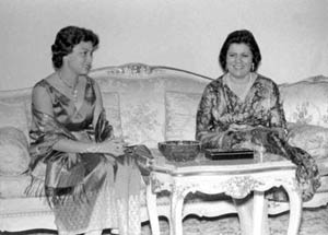 Tahia Kazem with Asian First Lady in January 1958
