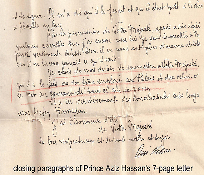 letter to King Fouad